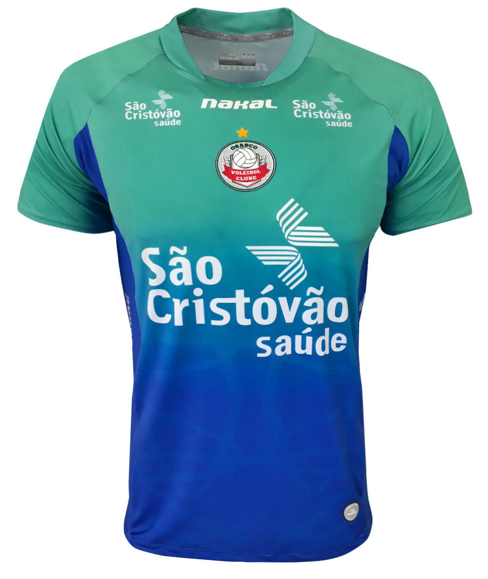Camisa de Vôlei Osasco 2021/22 Verde e Azul - Masculina