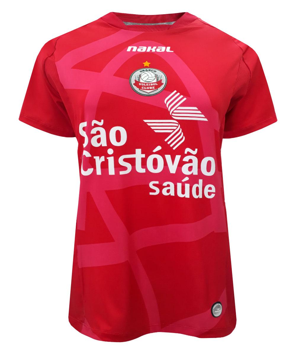 Camisa de Vôlei Osasco 2021/22 Vermelha - Feminina