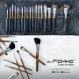 Estojo Kit de Pincéis Profissional Com 18 peças