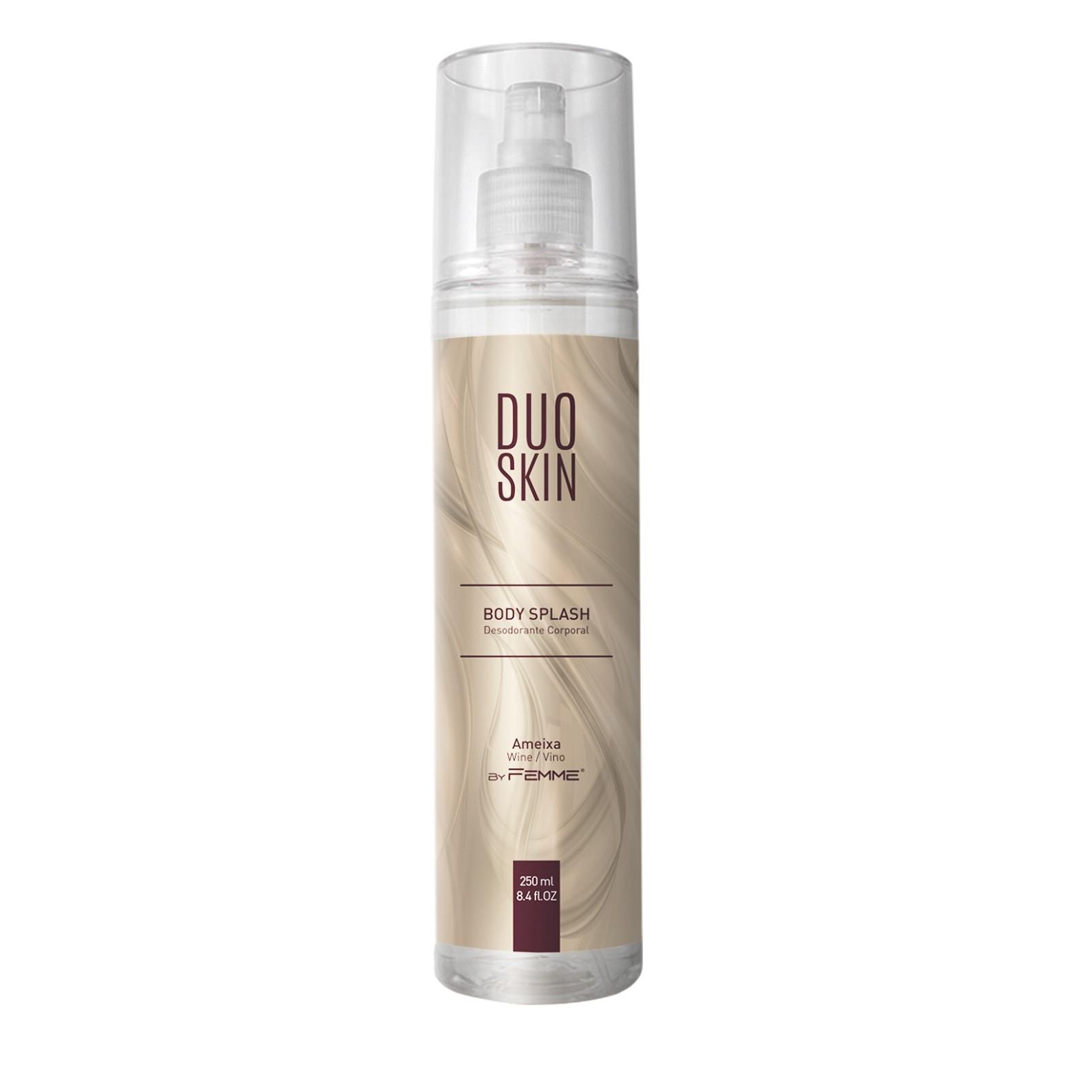 Body Splash Desodorante Corporal Duo Skin Ameixa 250ml