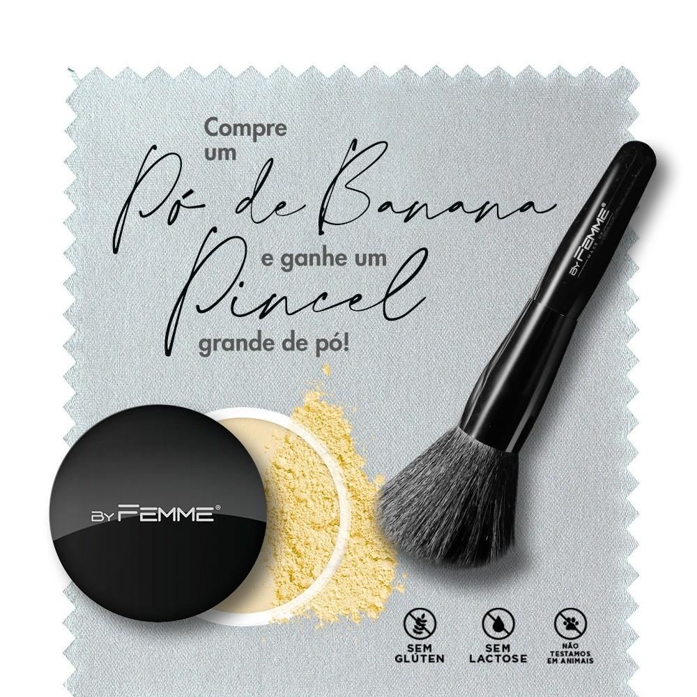 Kit Promocional Corretivo HD Mineral Banana + Pincel Grande de Pó