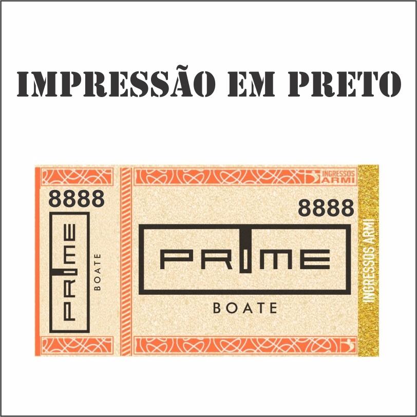 Ingresso Papel Moeda 11x6 - Impressão em Preto