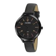 Relógio analógico mondaine preto pulseira de couro
