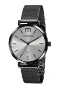 Relógio feminino preto Mondaine