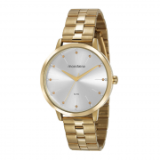 Relógio Mondaine Dourado tradicional