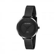 Relógio preto Mondaine minimalista