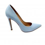 Sapato Scarpin azul claro verniz salto 11cm
