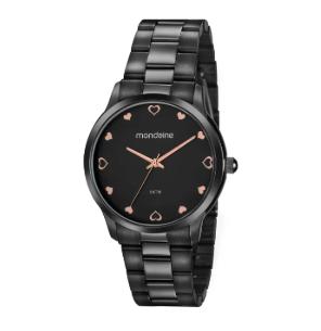 Kit Relógio Mondaine Feminino Preto