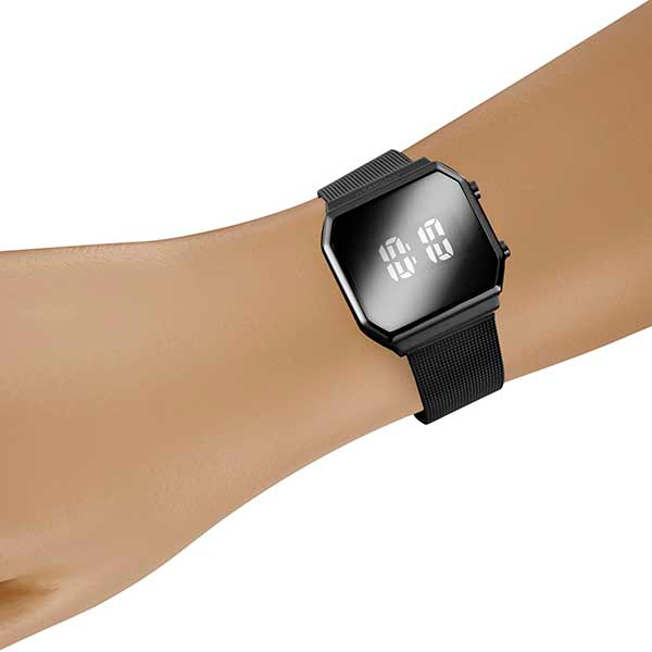 Relógio Preto Mondaine Digital