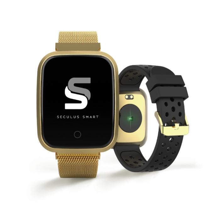 Smartwatch dourado Seculus