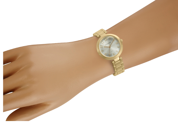 Relógio Clássico Dourado Mondaine