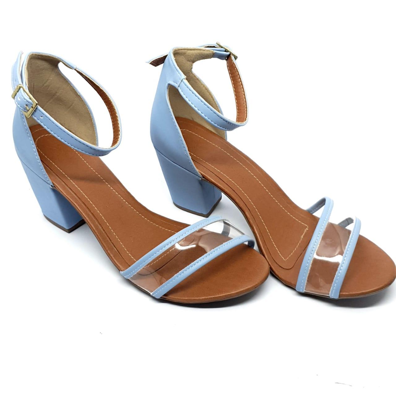 Sandália Azul com Vinil