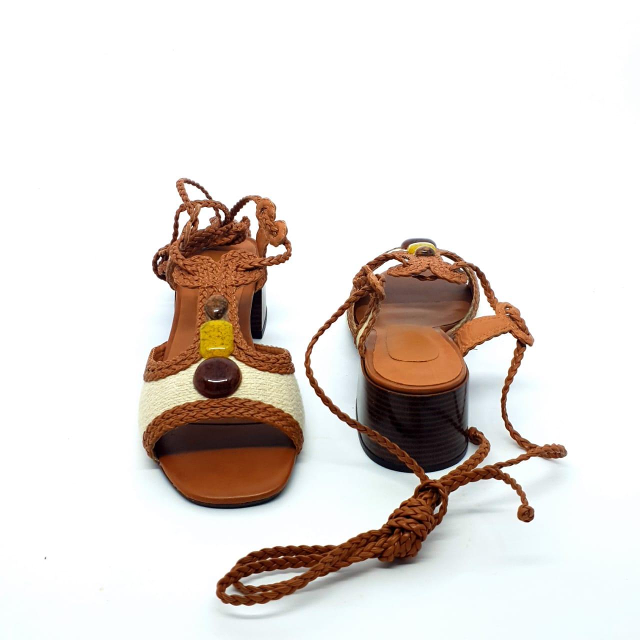 Sandália Trança Caramelo
