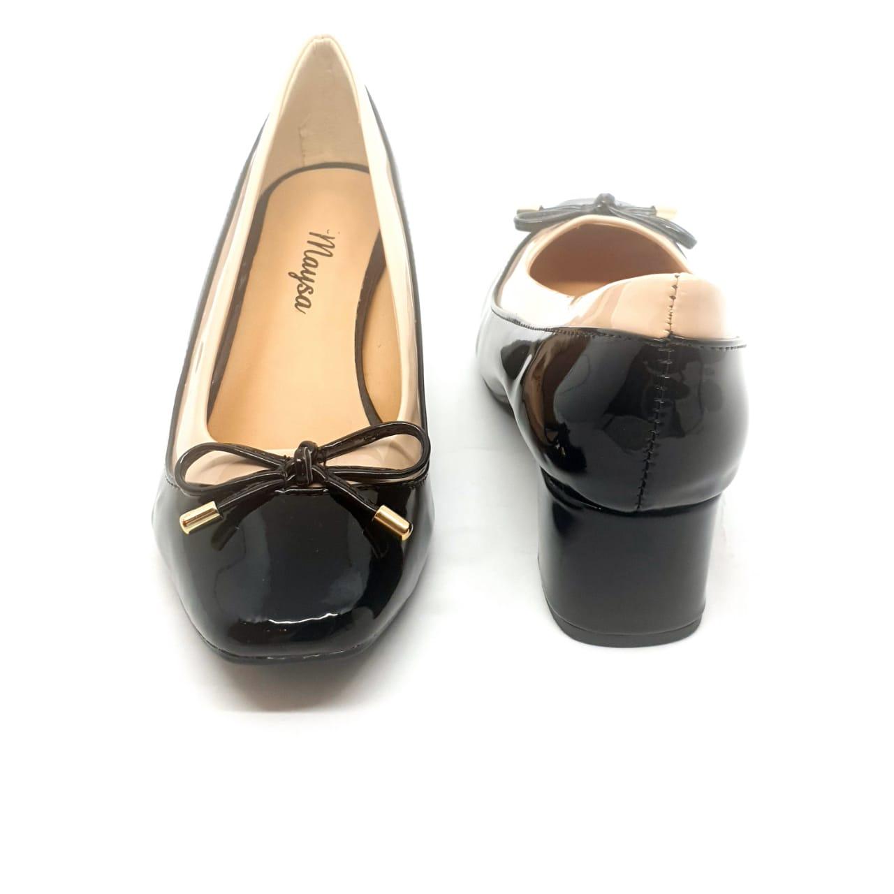 Sapato Preto em Verniz