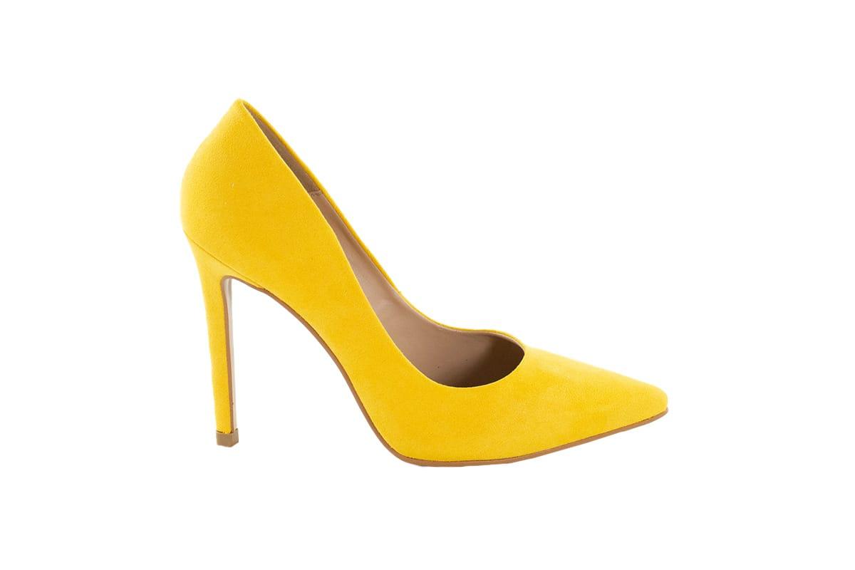 Sapato Scarpin Amarelo Salto Alto