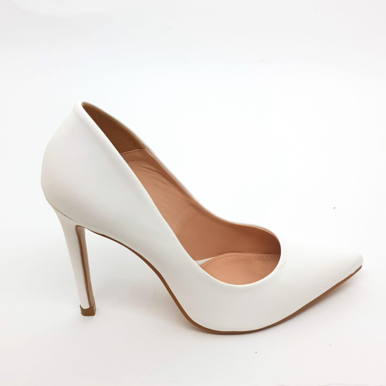 Sapato Scarpin Branco salto 11cm