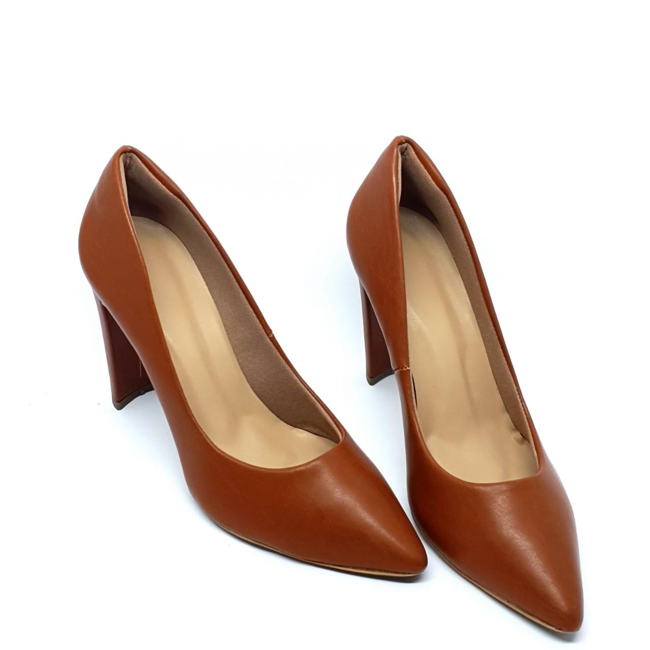 Sapato Scarpin Marrom