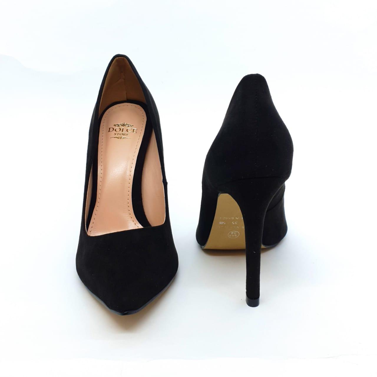 Sapato Scarpin preto salto 11cm