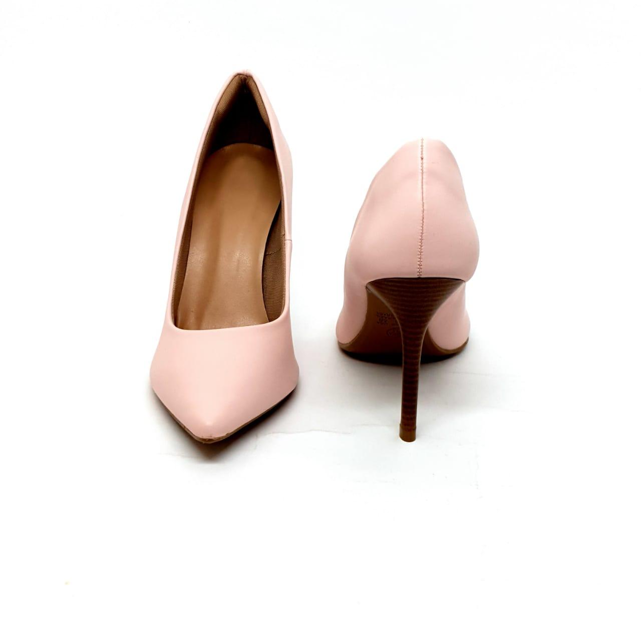 Sapato Scarpin Rosa Bebê salto 9cm