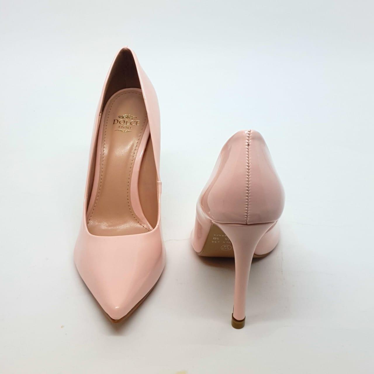 Sapato Scarpin Rosa Bebe Verniz