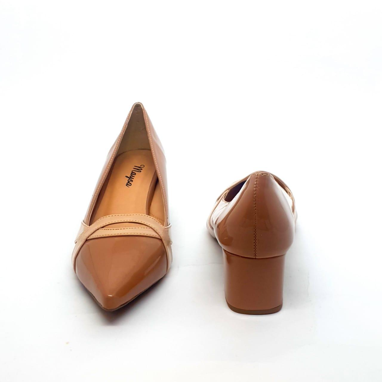 Sapato Scarpin Verniz cor Nude
