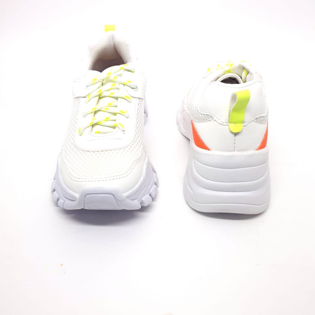 Tênis Chunky Branco e Limão