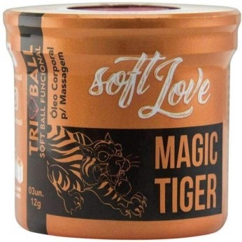 Atacado Sex Shop  Soft Ball Triball Magic Tiger 12g 03 Unidades Soft Love