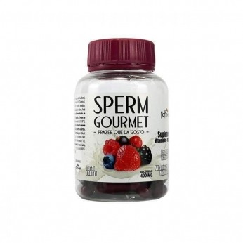 Atacado Sex Shop  Sperm Gourmet 60 Cápsulas Tutti Frutti Hot Flowers
