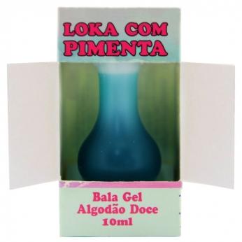 Bala em Gel Loka Com Pimenta 10ml  Algodão Doce