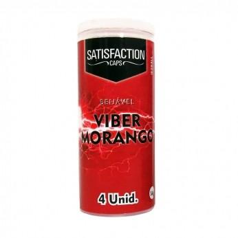 Bolinha Quadriball Viber Morango 04 Unidades Satisfection