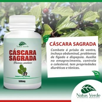 Complemento alimentício Cáscara Sagrada Natus Verde 60 caps