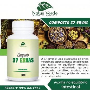 Composto com 37 ERVAS 60 CAPS Produtos naturais Natus Verdes 60 Caps
