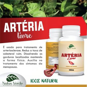 Composto Natural Artéria Livre Natus Verde 60 caps
