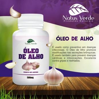 Composto Natural óleo de alho 60 Caps Natus Verde