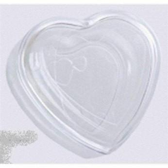 Embalagem Coração De Acrilico Para 3 Bolinhas Explosivas