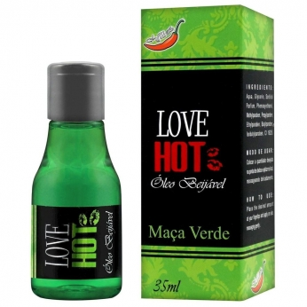 Gel Comestível Love Hot 35ml Chillies  Maça Verde