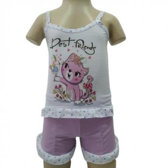 Kit 3 Baby Doll Short Infantil Feminino De Criança