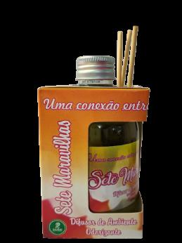 Kit com 3 DIfusores de Ambiente Odorizadores Tipo: Amor de Chocolate,Flor de Algodão,Sete Maravilhas 250ml
