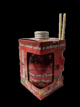Kit com 3 DIfusores de Ambiente Odorizadores Tipo: Frutas Vermelhas,Folhas e Flores e Morango com Champanhe  250ml