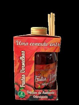Kit com 3 DIfusores de Ambiente Odorizadores Tipo: Frutas Vermelhas, Sete Maravilhas, Bambo  250ml