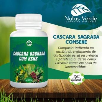 Laxante Natural Cascara Sagrada e Sene Produto organico Natus Verde 60 caps