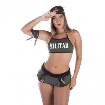 Lingeries Sexys  Fantasia Militar