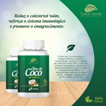 Óleo de Coco em Capsula 60 Caps Natus Verde