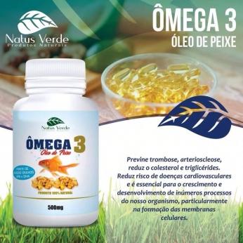 Ômega 3 Óleo de Peixe  60 Caps Produto Natural Natus Verde