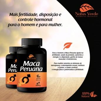 Produto Natural Maca Peruana 60 Caps Natus Verde