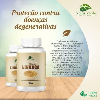 Produto Natural Óleo de Linhaça 60 Caps Natus Verde