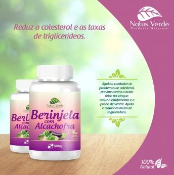 Produtos Naturais Berinjela C/ Alcachofra 60 Caps Natus Verdes