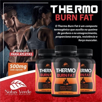 Queima Gordura Produto Para Atletas Thermo Burn Fat  60 Caps Natus Verde