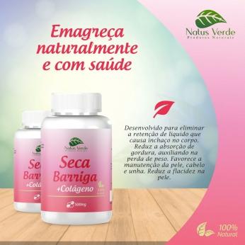 Seca Barriga Com Colágeno Produto natural 60 Caps Natus Verde