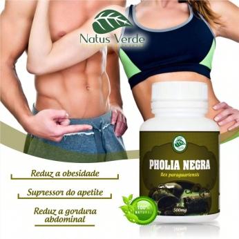 Supressor de apetite Natural Pholia Negra 60 Caps Natus Verde